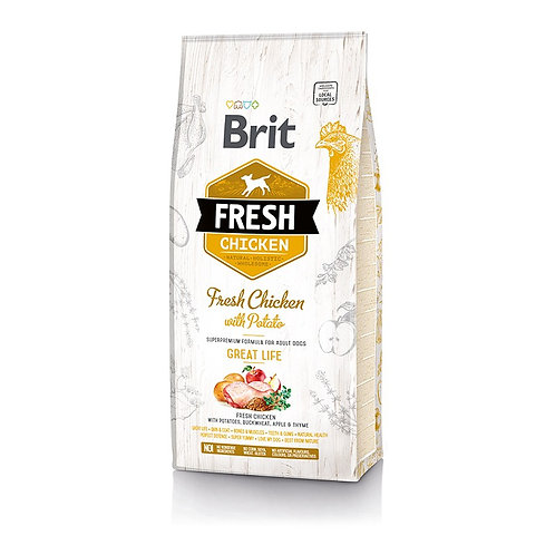 Brit Fresh Chicken With Potato Adult Great Life (2.5Kg - 12Kg)