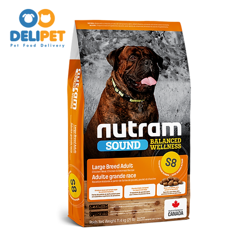 NEW S8 NUTRAM SOUND LARGE BREED ADULT DOG 11.4 KG