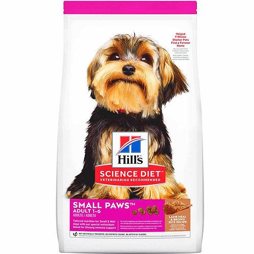 Hills SD Adult Small Paws® Lamb & Rice 4.5 lb - 15.5 lb (2 KG - 7 KG)