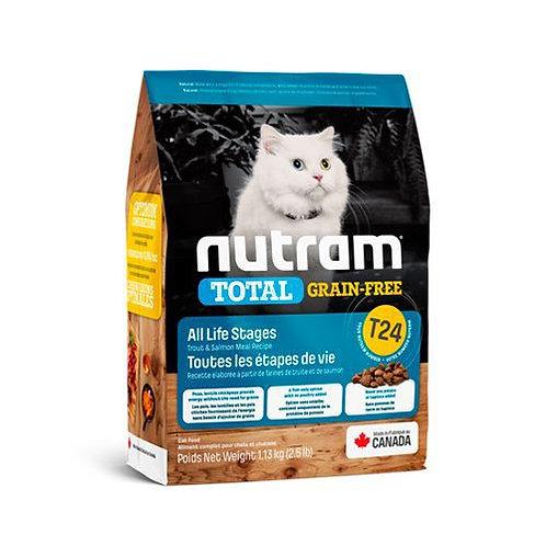 NEW T24 NUTRAM TOTAL GRAIN-FREE SALMON & TROUT CAT 1.13KG - 5.4 KG