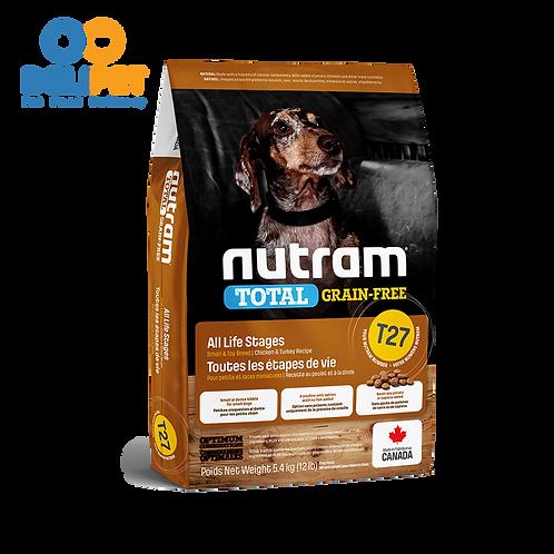 NEW Nutram T27 Total Grain-Free Turkey, Chicken & Duck - (2KG - 5.4KG)