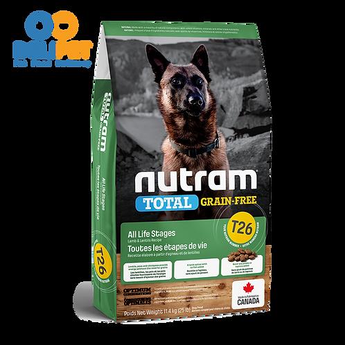 New Nutram T26 Total Grain-Free Allergy Lamb 11.4 Kg