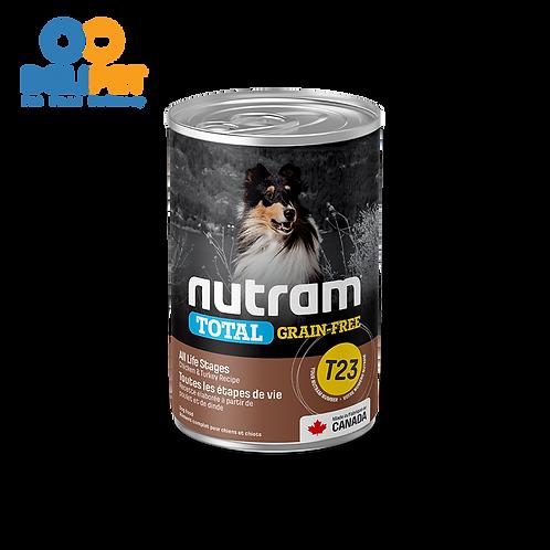 Nutram Lata T23 Total Grain-Free Pollo y Pavo  369 gr