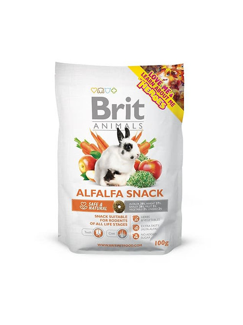 Brit Care Animals Alfafa Snack For Rodents (100 Gr) para conejo