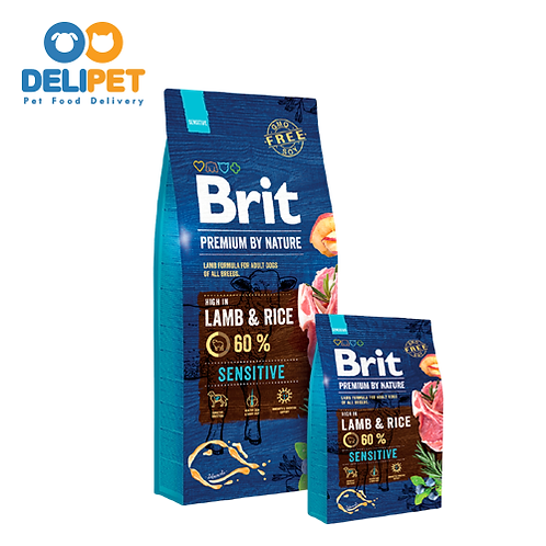 Brit Premium Sensitive Cordero y Arroz (15KG)