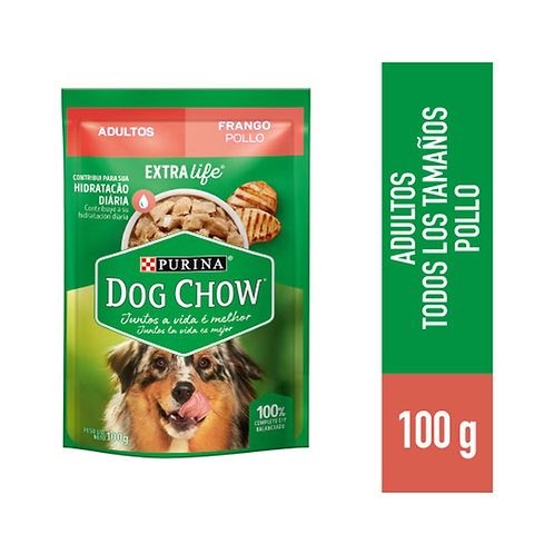 Sachets Dog Chow Festival De Pollo Trozos Jugosos 15uni X 100gr
