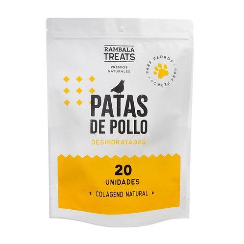 Rambala PATAS DE POLLO DESHIDRATADOS X20 UNIDADES