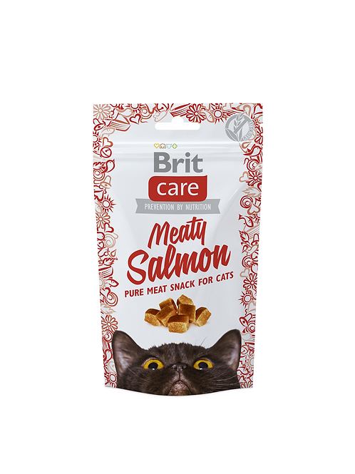 Brit care cat snack meaty salmón 50gr