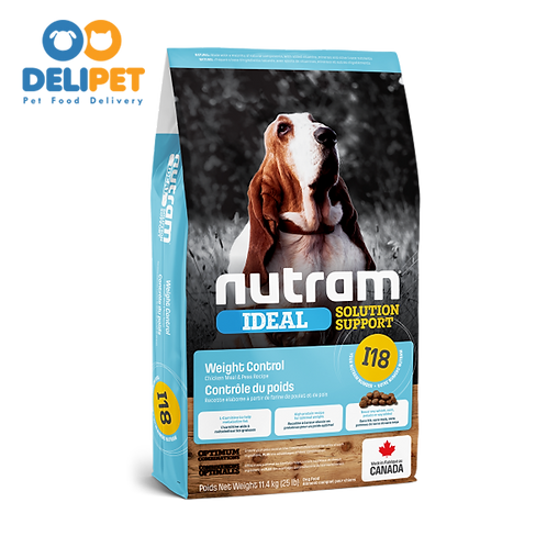 NEW I18 NUTRAM IDEAL WEIGHT CONTROL DOG (2KG - 11.4KG)
