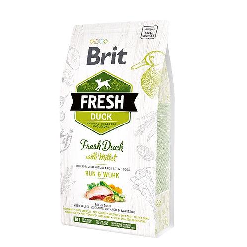 Brit Fresh Duck With Millet Active Run & Work (2.5Kg - 12Kg)