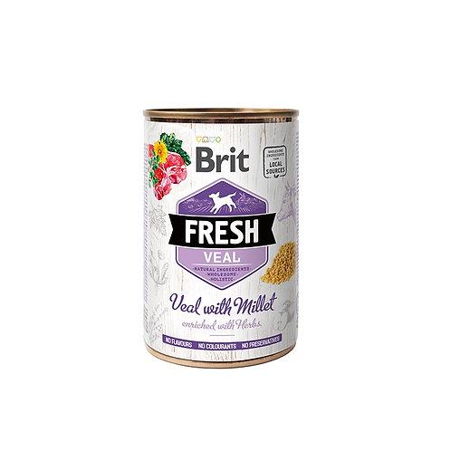 Lata Brit Fresh Veal with Millet 400Gr
