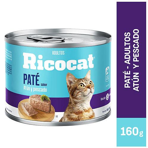 Lata Ricocat Paté Atún y Pescado 160gr