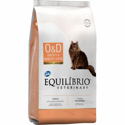 EQUILIBRIO VETERINARY CAT OBESITY & DIABETIC (OD) 2KG