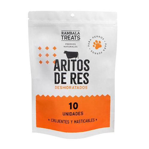 Rambala ARITOS DE RES DESHIDRATADOS X10 UNIDADES