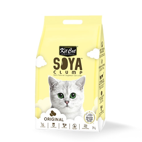 KIT CAT Soya Clump Soybean Litter Original 3.18 Kg