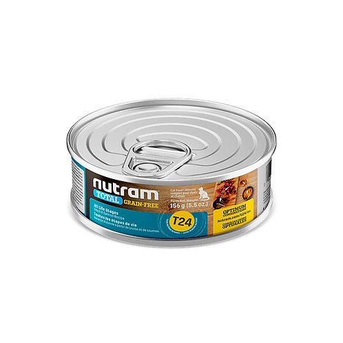 T24 LATA NUTRAM TOTAL TROUT & SALMON CAT CANNED FOD 156 G