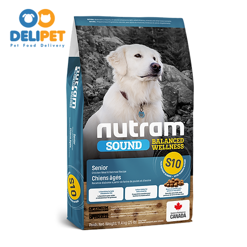 NEW S10 NUTRAM SOUND SENIOR DOG (2KG - 11.4KG)