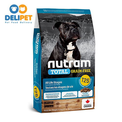 NEW T25 NUTRAM TOTAL GRAIN-FREE SALMON & TROUT DOG - (2KG - 11.4KG)