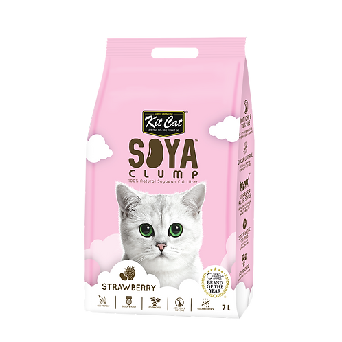KIT CAT Soya Clump Soybean Litter Strawberry 3.18 Kg