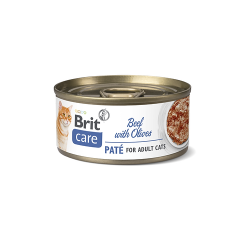 Brit care cat beef pate with olives can 70gr