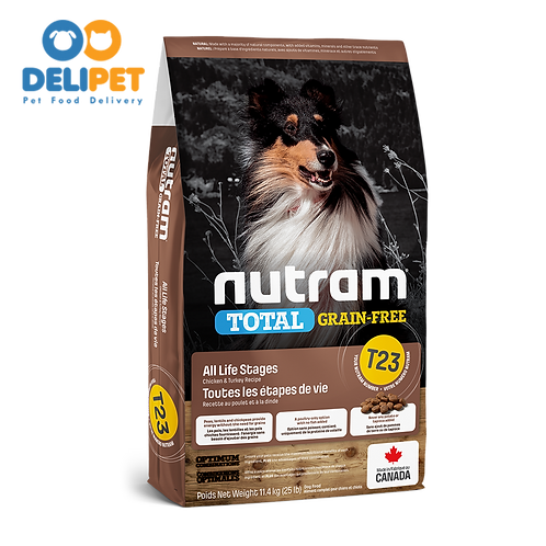 NEW T23 NUTRAM TOTAL GRAIN-FREE TURKEY CHICKEN & DUCK DOG 2KG