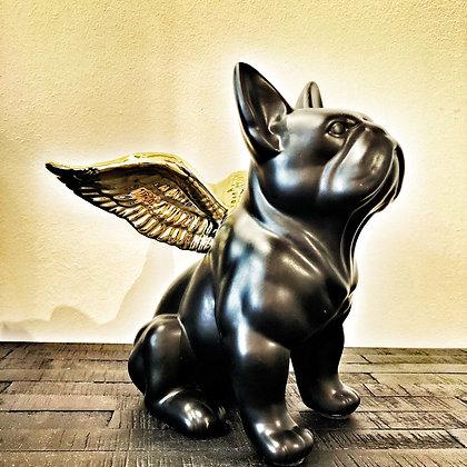 instagram SKDéco skdecoshop skdeco objet deco decoration chien volant avec des ailes noir et or doré bouledog francais dog