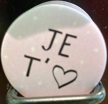 Badge magnetique magnet fun original photo instagram followers SKDéco skdecoshop skdeco je t'aime i love you amour