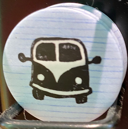 Badge magnetique magnet fun original photo instagram followers SKDéco skdecoshop skdeco car voiture