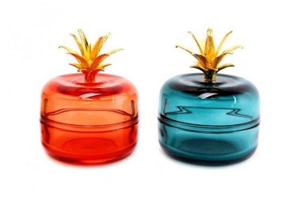 Boîte en verre forme pomme