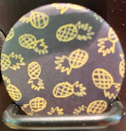Badge magnetique magnet fun original photo instagram followers SKDéco skdecoshop skdeco ananas fruit