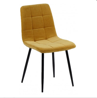 Chaises Tissu Moutarde 4 pieces