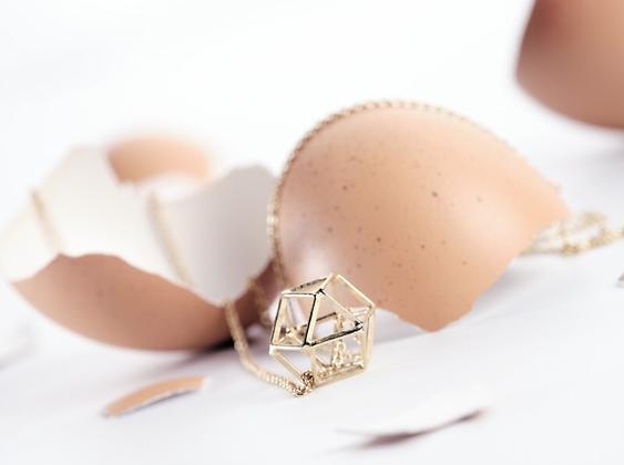 bijoux femme bracelet collier dore chaine coeur or cache dans un oeuf surprise instagram followers SKDéco skdecoshop skdeco