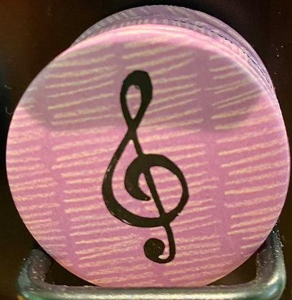 Badge magnetique magnet fun original photo instagram followers SKDéco skdecoshop skdeco cle de sol musique chanson
