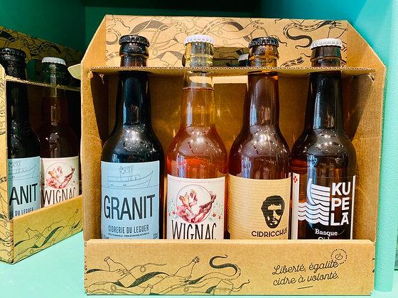 Pack de 4 bouteilles de Cidre francais