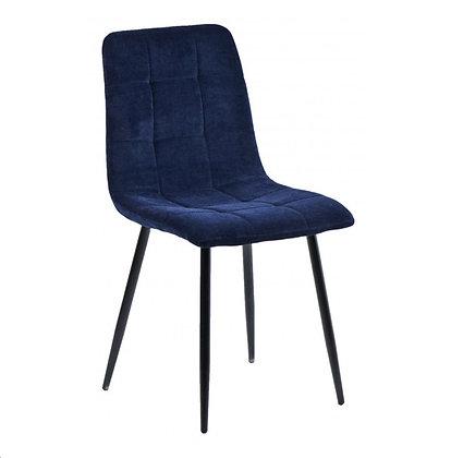 Chaises Velours Bleu Nuit 4 pieces