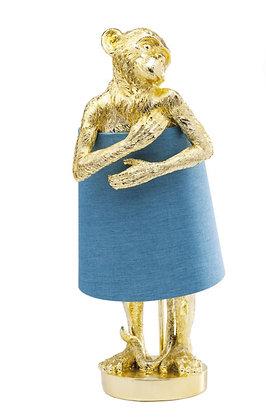 Lampe Naked Monkey Gold Blue