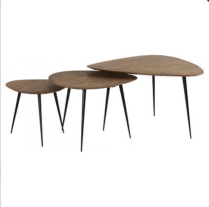 Table basse en acacia naturel S