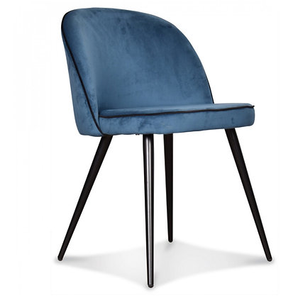 Chaise velours Bleu Canard