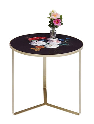 Table d'appoint fleurie