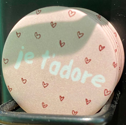 Badge magnetique magnet fun original photo instagram follower SKDéco skdecoshop skdeco i love you je t'adore i like you hear