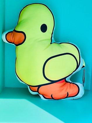 Coussin canard tissus jaune tout doux confort agreable SKDéco skdecoshop skdeco