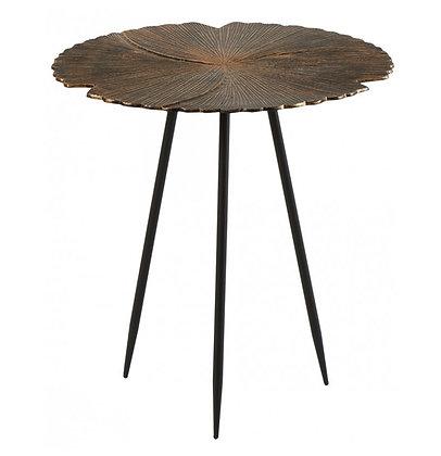 Table Basse Métal Or Patiné