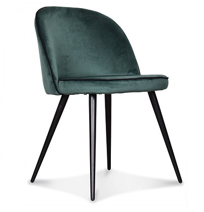 Chaise velours vert Menthe