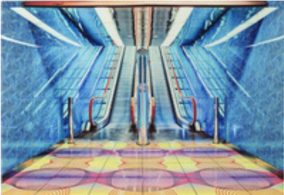instagram SKDéco skdecoshop skdeco objet de decoration design designer tableau en verre escalateur escalator couleur vive