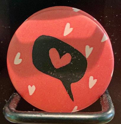 Badge magnetique magnet fun original photo instagram followers SKDéco skdecoshop skdeco love coeur heart amour je t'aime