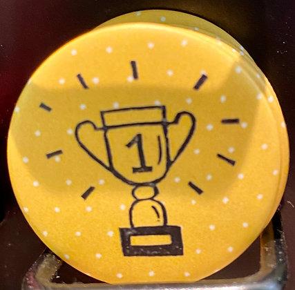 Badge magnetique magnet fun original photo instagram followers SKDéco skdecoshop skdeco champion winner coupe