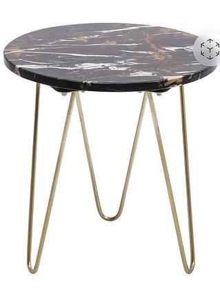 Table d'appoint Marbrée Diam. 35cm