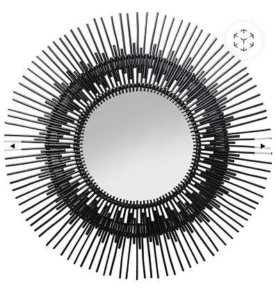 Miroir du Trone en bois 90cm diam.