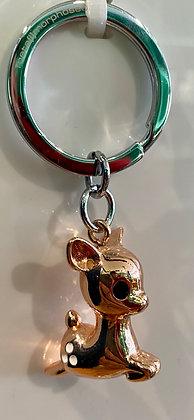 SKDéco skdecoshop skdeco porte cles biche cuivre rose  metal original atypique cle clef qualite