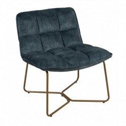 assise fauteuil velours bleu petrole couleurs SKDéco skdecoshop